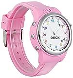 Enox Safe-Kid-One ROSA Kinderuhr Smartwatch GPS Live Tracker Peilsender Micro SIM Karten Einsatz Anruf SOS Funktion GEO-Zaun Kinder Telefon