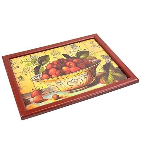 Eden Elfen Große Sitzsack Gepolstertes Knietablett TV Servieren Abendessen Food Laptop aus Holz Fruit Bowl