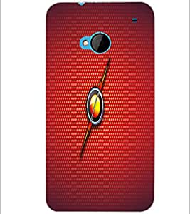 PrintDhaba Fire Ball D-1637 Back Case Cover for HTC ONE M7 (Multi-Coloured)