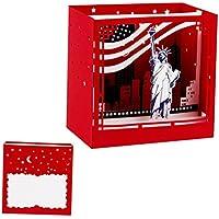 Dabixx 3D Pop Up New York Greeting Cards Cumpleaños de Navidad Valentine Invitation 10.5x10.5x7cm