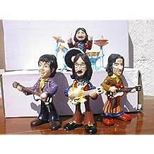Set grupo the Beatles.figuras en resina Polystone comic 14cm altas