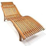 Sonnenliege Cannes Ergonomisch Geschwungene Holz Gartenliege
