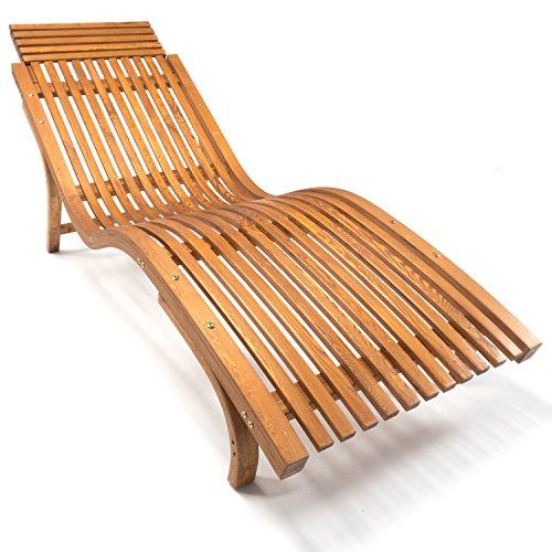 Ampel 24 Sonnenliege Cannes | Gartenliege ergonomisch geschwungen | Relaxliege mit Wählbarer...