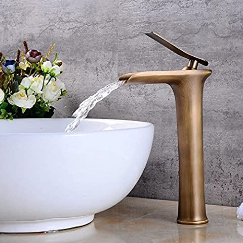 Sproud American Dark Copper Faucet Waterfall Faucet Basin Basin On The Stage Of Leading European
