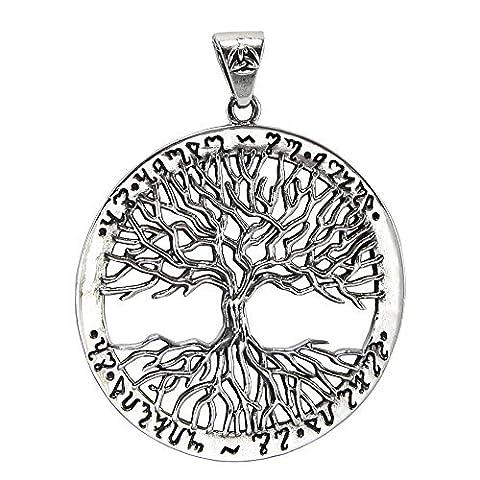 Argent sterling Yggdrasil arbre de vie comme Above So below Thébain Pendentif