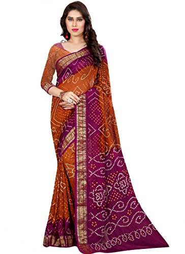 Saree ( Sarees Creation Original Printed Bandhani Saree)