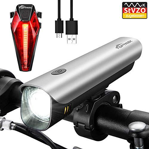 Toptrek Fahrradlicht StVZO Zugelassen akku Fahrradlicht… | 00652054637796