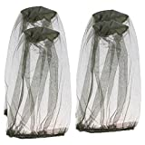 Pingenaneer 4 Pcs Mosquito Head Net, Insect Head Net, Maschera Anti-mosquito per campeggio all'aperto, Escursione, Giardinaggio, Attività all'aperto - Verde