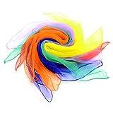 CLE DE TOUS- Paquete de 6 Pañuelos de Seda 70x70cm para Malabares Bufanada Malabares Multicolor(6 colores)