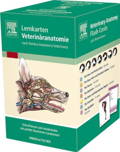 Lernkarten Veterinäranatomie/Veterinary Anatomy Flash Cards