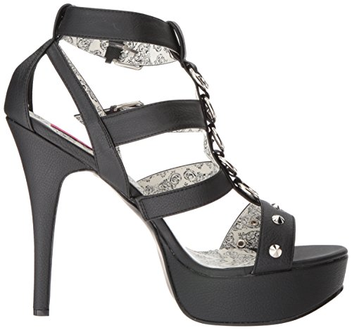 Pleaser Teeze-42w, Scarpe Col Tacco Donna Mehrfarbig(Blk Faux Leather)
