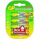 GP Batteries NiMH rechargeable batteries AA - Batería/Pila recargable (2600 mAh, Universal, Níquel metal hidruro, Ampolla) Multi
