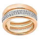 Swarovski Exact Ring, weiss, rosé Vergoldung