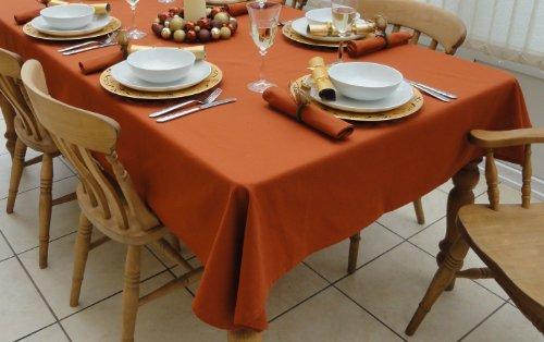 Tablecloth 139,7x 299,7cm Burnt Orange Weihnachten Rechteck Tischdecke (10-12Sitzplätzen)
