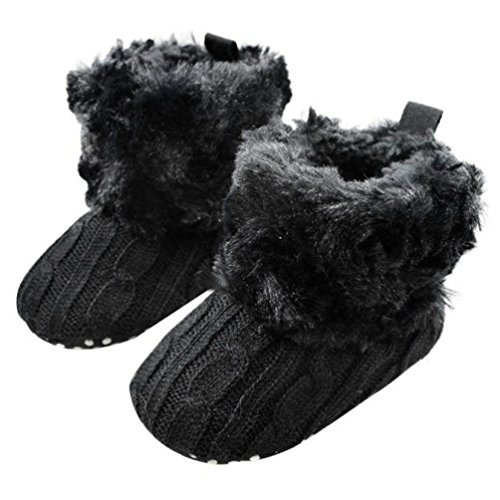 Criança Sapatos Neve Longra Bebê Botas Da Macio Negra Berço q7qxt0wP