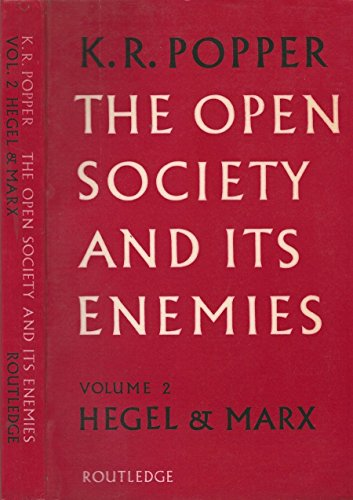 The open society and its enemies. Volume 2 hegel & marx.