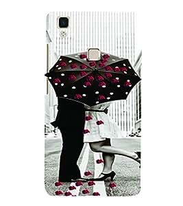PrintVisa Romantic Love Couple Road 3D Hard Polycarbonate Designer Back Case Cover for VivoV3