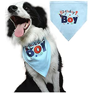 BINGPET-Dog-Birthday-Bandana-Pet-Scarf-for-Small-Medium-Large-Dogs-Accessories-Dress-Blue