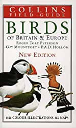 Collins Field Guide - Birds of Britain and Europe by Roger Tory Peterson (1993-04-26)