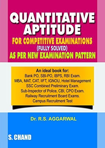R.S. Aggarwal Quantitative Aptitude for Competitive Examinations Paperback 2016 with Free Car...