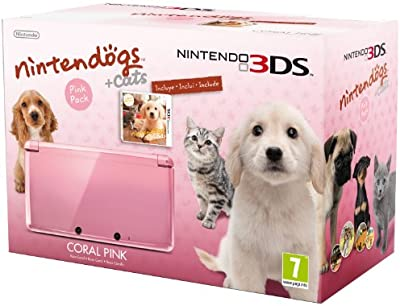 Nintendo 3DS - Color Rosa - Incluye Nintendogs + Cats
