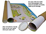 Building Site Playmat - Huge - Colourful and Engaging -Ideal for Nurseries Schools and Home - Tough Vinyl - Wipe Clean 150 x 95 Centimetres