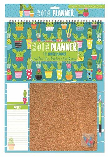 Cactus Corkboard Calendar 2018