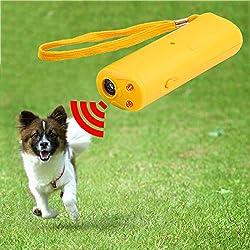 SMARTrich Hund Training Stop Bellen LED Ultraschall-Zurückrufer Gerät Trainer Anti Bellen für jeden Hunde (gelb)