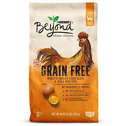 Purina Beyond Natural Dry Cat Food, Grain Free, White Meat Chicken & Egg Recipe, 3-Pound Bag, Pack of 1