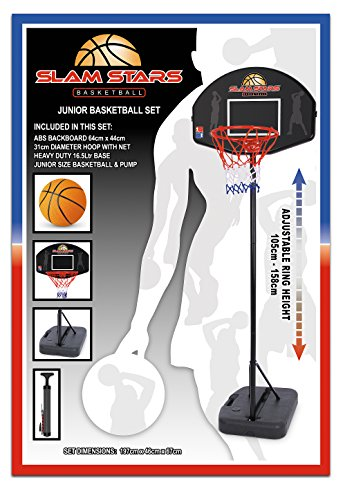 Osprey Basketballständer Slam Stars Junior Set, schwarz, 105-158 cm, TY4834 (Shop Bike Star Blue)