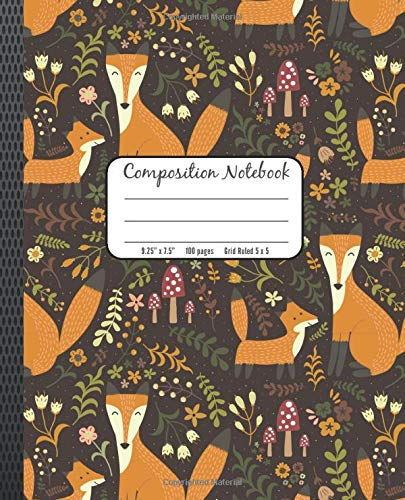Brown Fox (Composition Notebook: Fox Pattern Brown Tan Journal for Writing In)