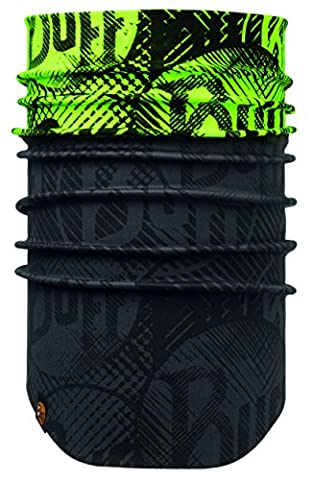 Buff Neckwarmer Windproof Neckwear, New Log Us Yellow Fluor/Printed, Adult/One Size