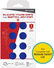 Hyperkin Silicone Thumb Grips for Nintendo Switch Joy-Con (Neo Blue, Pack of 8)