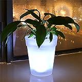 HomJo Solar Blumentopf leuchtet eine Lampe Dual-Use-Multifunktions-Nachtlicht Garten Villa dekorative Lichter