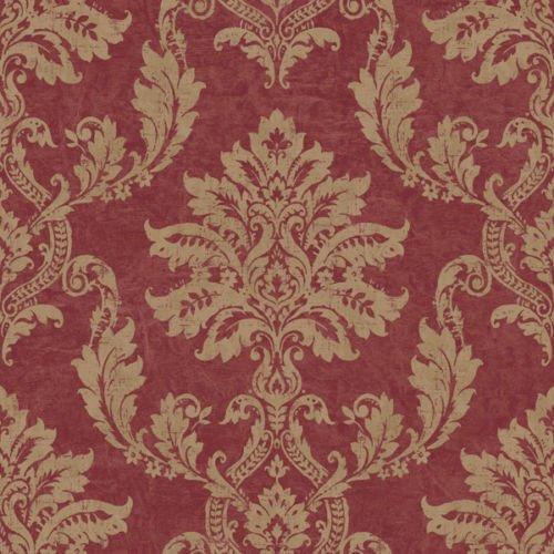 PC 2501 - Persa oro elegante y damasco rojo del brillo del papel pintado Galerie