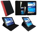 One Tablet Xcellent 10 Windows Schwarz mit Roter Trimmen Universal 360 Grad Drehung PU Leder Tasche Schutzhülle Case ( 9 - 10 Zoll ) von Sweet Tech