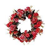 Deko Kranz Wandkranz Handgefertigt Kranz Für Outdoor Türkranz Rose Rebe Blumenkranz Künstliche Dekorative Landschaftsbau Kranz