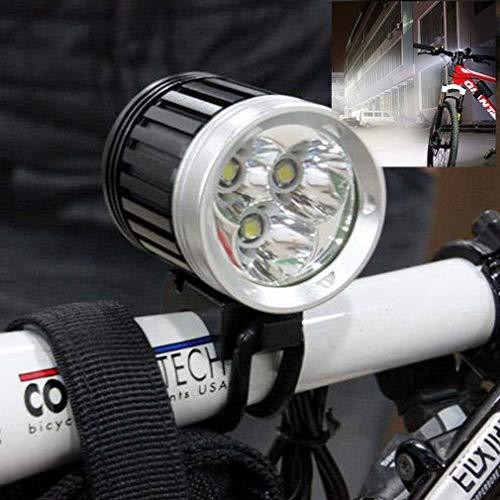 4000Lm-3x-XML-Bright-T6-LED-Torcia-per-bicicletta-Torcia-per-bicicletta-Torcia-frontale-Colore-nero