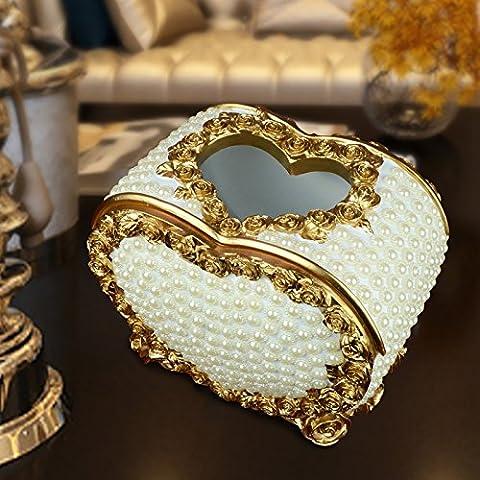 YUENLONG Continental home tavolino con la parte di aspirazione di lusso arredate vassoio carta perla box