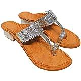 Women's Kolhapuri Chappals | Ethnic Leather Heels Kolhapuris for Women | WK19
