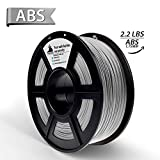 Metallo pieno d'argento(Silver) ABS filamento stampante 3D,Filamenti per stampanti 3D,1.75 mm,precisione dimensionale +/- 0,02 mm