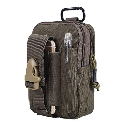 OneTigris kompakt MOLLE EDC Tasche Tac Pouch praktische Gerät Beutel (Ranger grün)