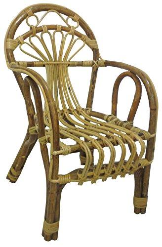 Sf savino filippo poltroncina sediolina sedia bimbo baby in vimini bambù rattan naturale e giunco sole
