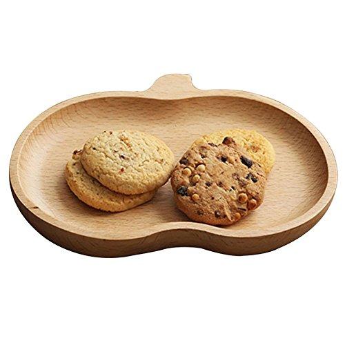 Apple-teller-set (iTemer-Set aus Holz, Dessertteller, Teller, Früchte, trays-apple)