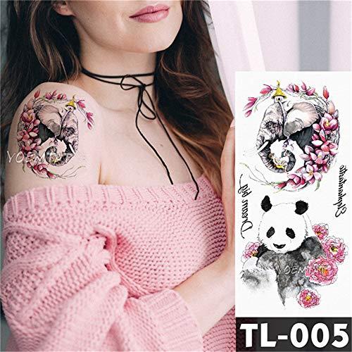 sertransfer Japanischen Stil Geisha Krieger Temporäre Tätowierung Aufkleber Farbe Karpfen Muster Body Art Wasserdicht Tattoo 3 Stücke- ()
