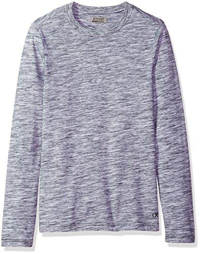 2(x)ist Spacedye Herren Langarmshirt - Schwarz - Klein - Crewneck Heather Jersey T-shirt