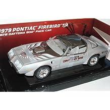 Pontiac Firebird T/A 1979 Daytona 500 Pace Car Silber 1/18 Greenlight Modell Auto mit oder ohne individiuellem Wunschkennzeichen