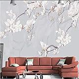 Koyiyo Benutzerdefinierte 3D Effekt Moderne Tapete Große Hauptdekoration Wandbild Grau Hintergrund Blumen Fernseher Einstellung Wohnzimmer Tapete-400X280CM