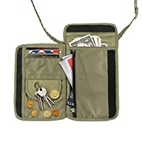 Travel Inspira Passport Holder Travel Neck Wallet, Use As Neck Pouch or Hidden Wallet- Adjustable neck strap - Protect Your Money, Passport, Credit Cards, Cell Phone and Documents-8 Pockets