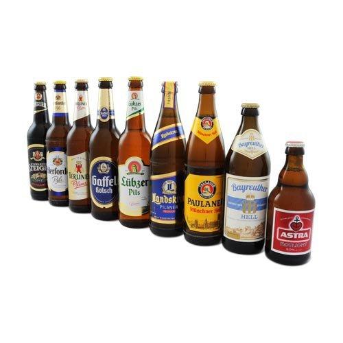 flaschen verschicken Deutsche Bierspezialitäten - Probierpaket (9 Flaschen/4,33 l/6% vol.)